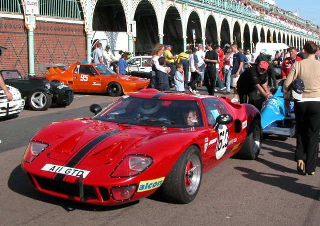 Returning to pits with nephew at Brighton 2005